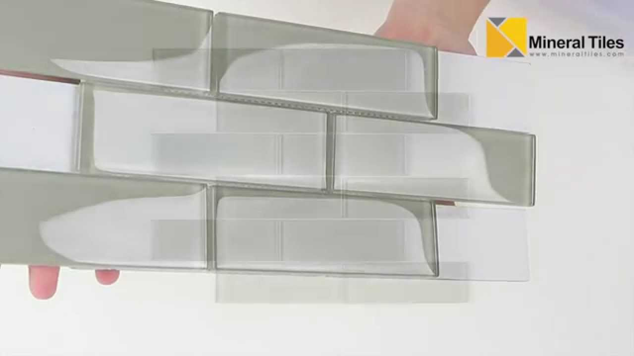 Glass Subway Tile French Gray 2x6 120anaelemsmo26 Youtube