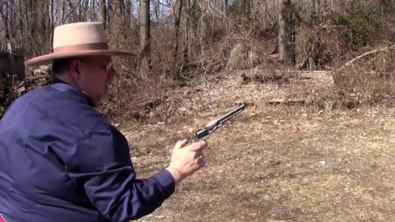 shooting colts 1862 police revolver mov youtube