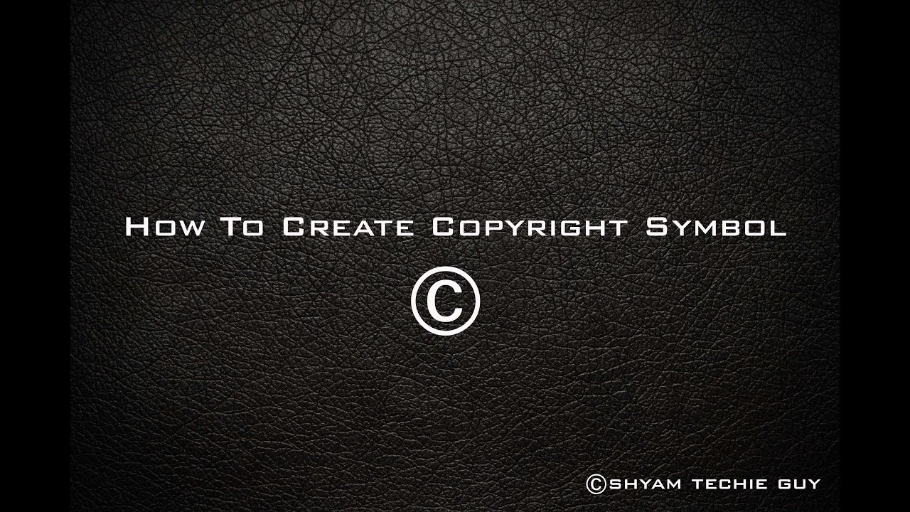 How To Create Copyright Symbol In Photoshop Youtube