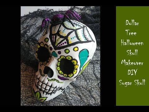 Dollar Tree Skull DIY Halloween Project Day 7
