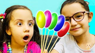Rhymes with colorful candies  Learn colors with lollipops