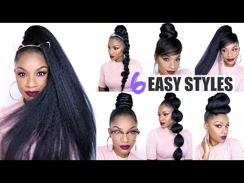 How to Style a Drawstring Ponytail Hair