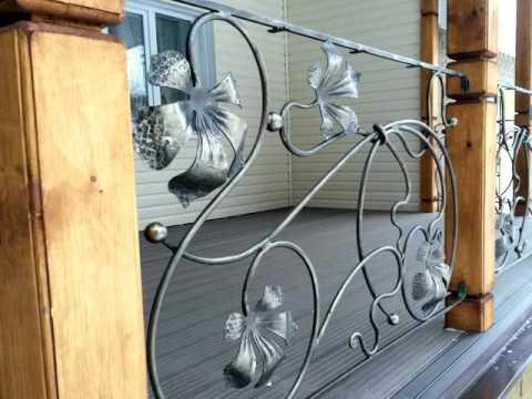 Перила 110  Кованые для веранды ограждение из металла фото Днепр Днепропетровск ковка