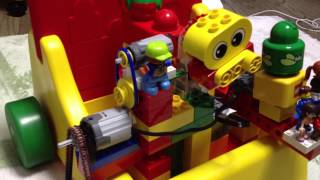 Lego motorized car using primo,baby, duplo, system, technic, Belleville, jack stone and Friends!!