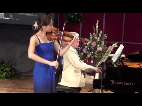 Savitri Grier and Francis Grier play Mozart Sonata in B flat K 378