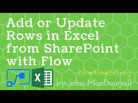 Add Or Update Rows In Excel From SharePoint With Microsoft Flow