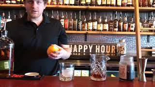 Flaming old fashioned at new Kalamazoo whiskey bar