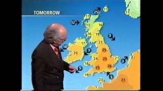 BBC Weather 4th May 1995; 27.4C at RAF Northolt