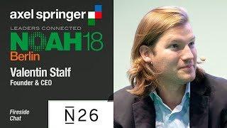Fireside Chat Valentin Stalf, N26 & Marco Rodzynek, NOAH Advisors - NOAH18 Berlin