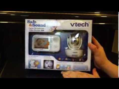 vtech-pan-&-tilt-video-baby-monitor-vm333-unboxing