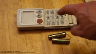 How to replace battery remote control air conditioner