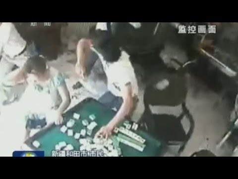 Four injured in shocking China axe attack