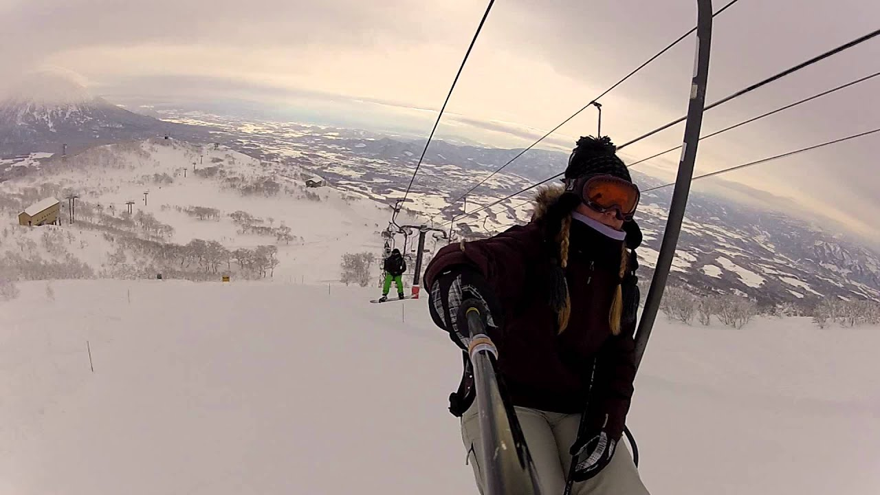 Scary Chair Lift at Niseko Japan
