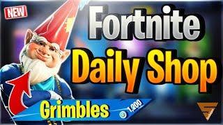 Fortnite Daily Shop *NEW* GRIMBLES SKIN (23 December 2018)