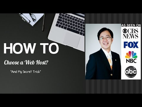 How to choose a Web Host - My Secret Tips