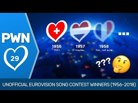 PWN #29: Unofficial Eurovision Song Contest Winners (1956-2018)