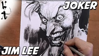 Jim Lee drawing Arkham Joker
