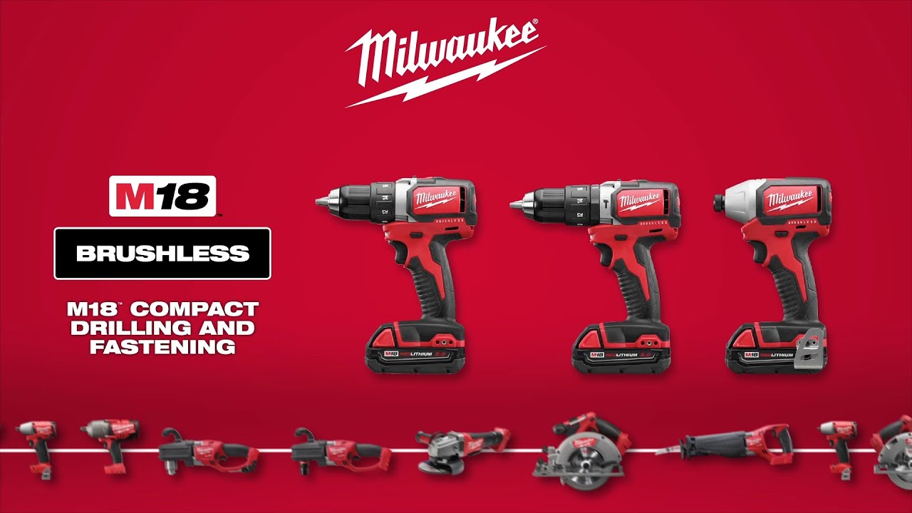 Milwaukee 174 M18 Compact Brushless Drill Amp Impact Youtube