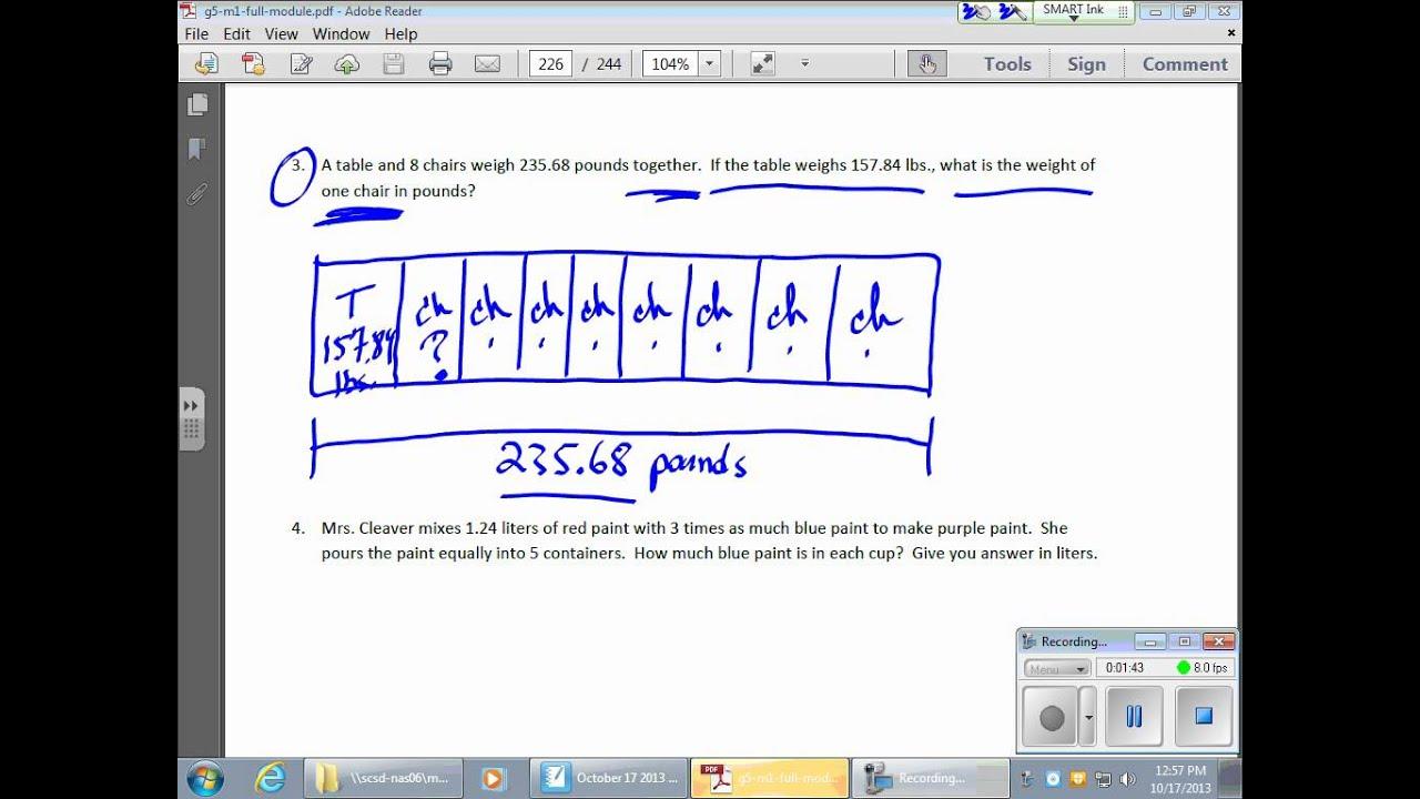 October 17 Math Module 1 Lesson 16 Problem Solving