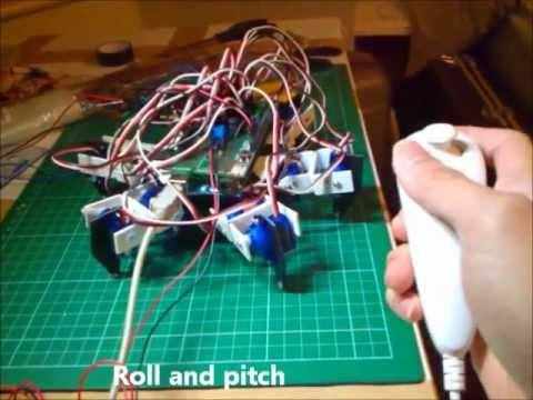 Arduino Pan Tilt servo system with Nunchuk - VidInfo