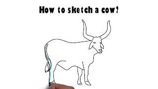 How to sketch a cow?