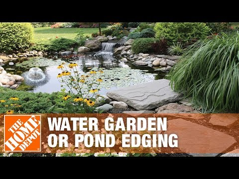 How To Install A Water Garden Or Pond Edging | The Home Depot