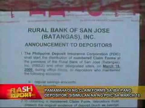 GMANews TV PDIC to issue claim forms to depositors of closed banks March 18