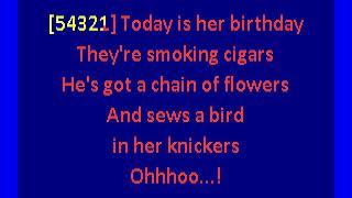 sugarcubes - birthday (karaoke)
