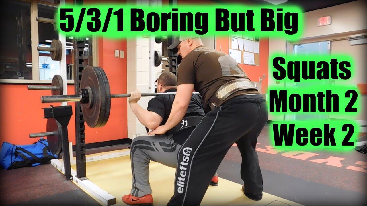 5/3/1 Boring But Big - Squats - Month 2 - Week 2