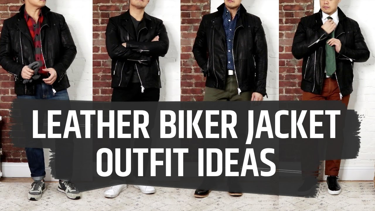 With what to wear a leather jacket