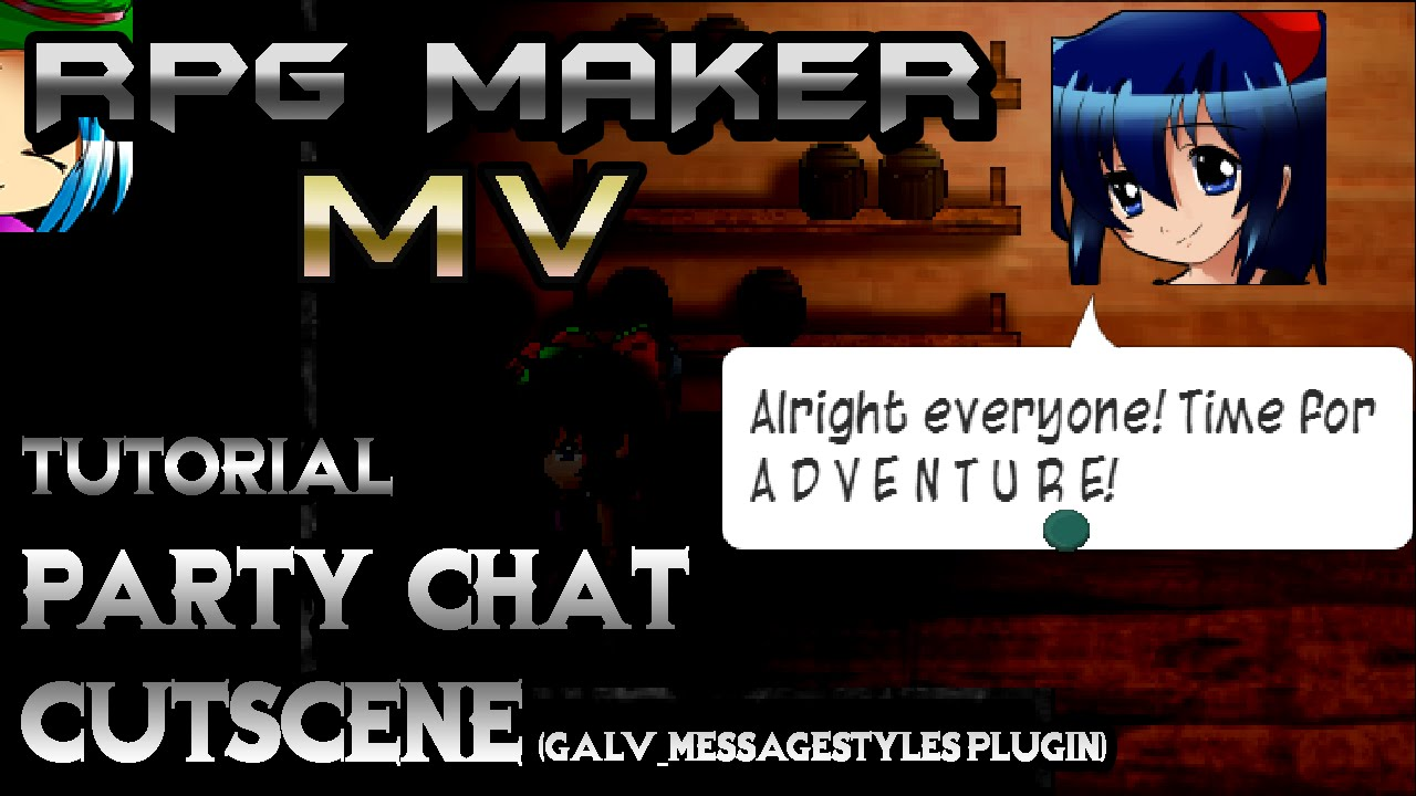 RPG Maker MV Tutorial: PARTY CHAT!! (GALV_MessageStyles Plugin)