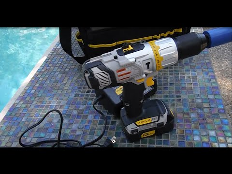 Stanley fatmax cordless hammer drill + battery reconditioned.