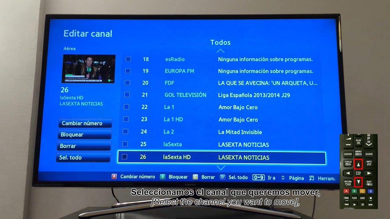 Montar Instalar Y Ordenar Canales Smart Tv Samsung Dplrepara