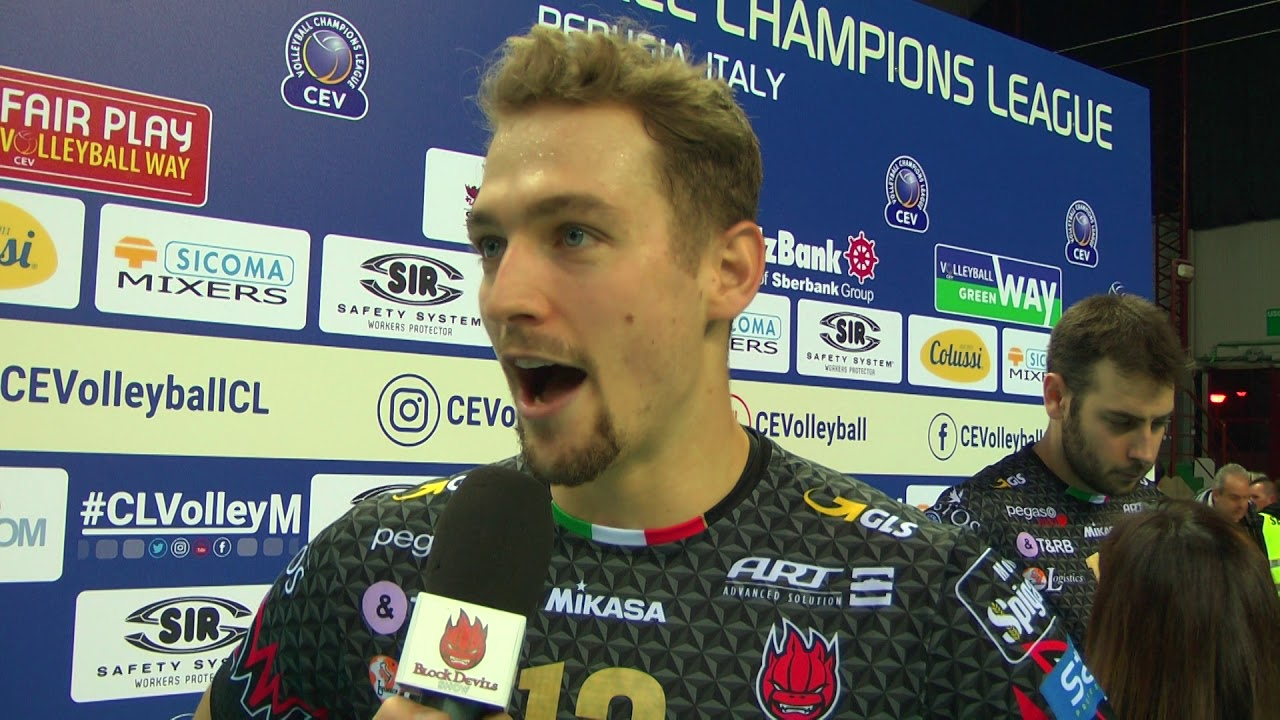 Alexander Berger From Sir Colussi Sicoma Perugia On The Win Vs