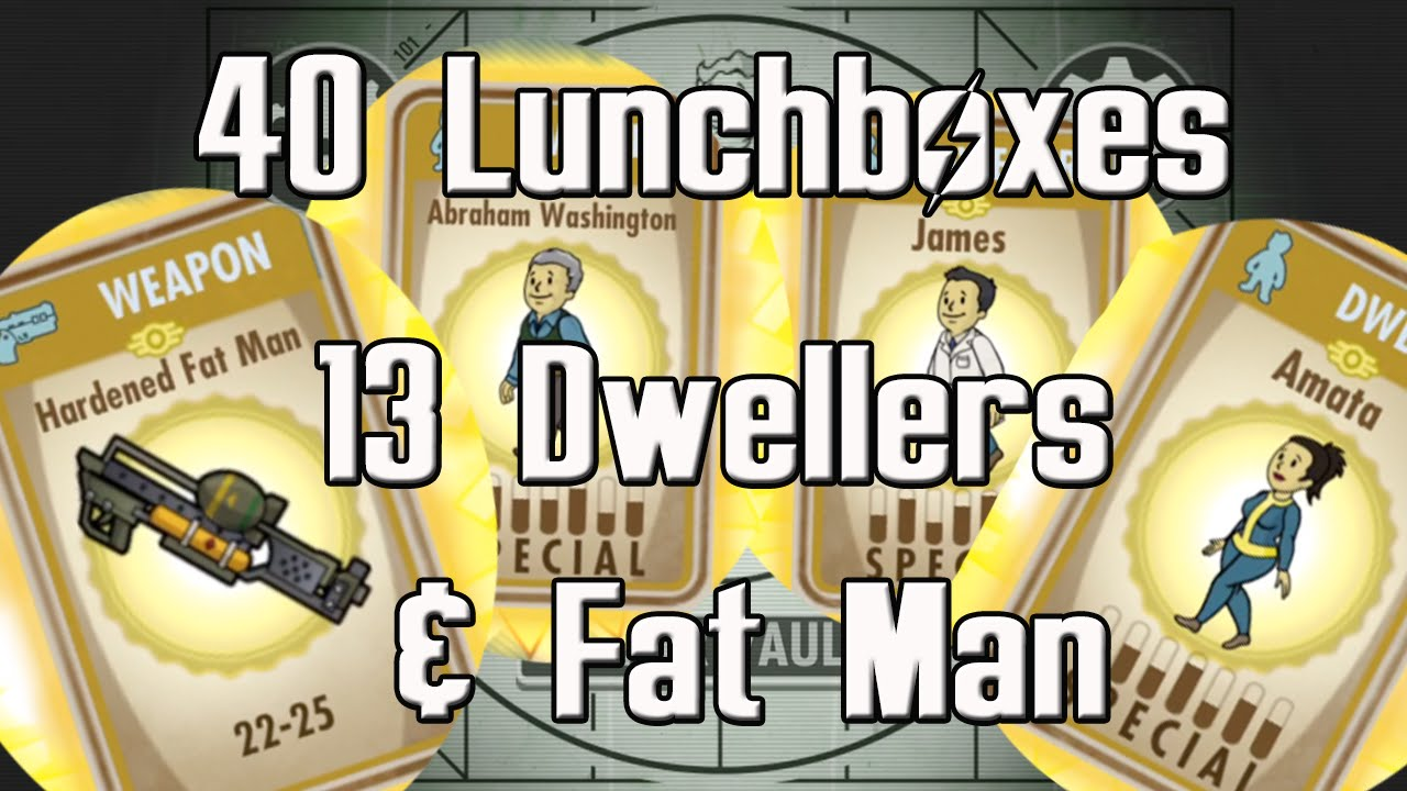 Fallout Shelter Ios Fat Man Get 40 Lunchboxes Opened 12