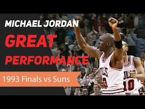 Michael Jordan 1993 NBA Finals Great Performance