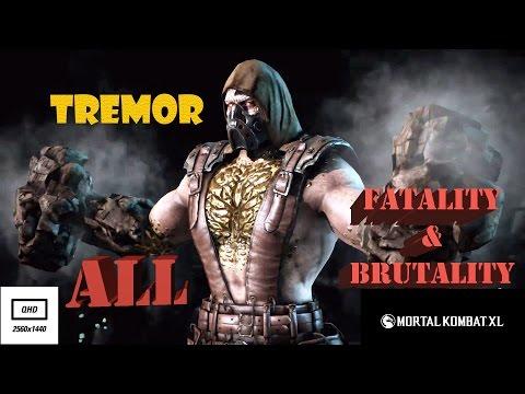 Mortal Kombat XL ► Тремор (Tremor) ► Завершающие приемы [2k HD 60 fps]