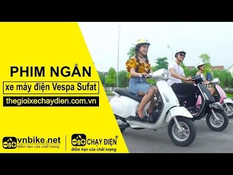 Đánh giá xe máy điện Vespa Sufat