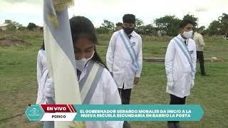 EN VIVO: Inician las obras de la nueva Escuela Secundaria en el barrio La Posta de Perico