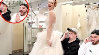 PICKING OUT HER WEDDING DRESS!!
