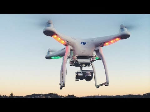 Запускаем дрон Phantom на максимальную высоту