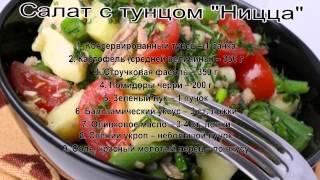 Оригинальные салаты рецепты.Салат с тунцом Ницца