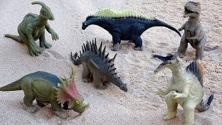 Dinosaur Giant Sandbox Fossil Dig Surprise! Learn Dinosaur Names for Kids!