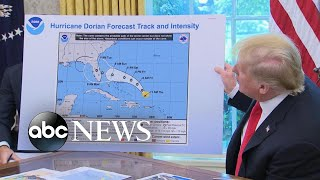 Trump displays altered Dorian forecast map | ABC News