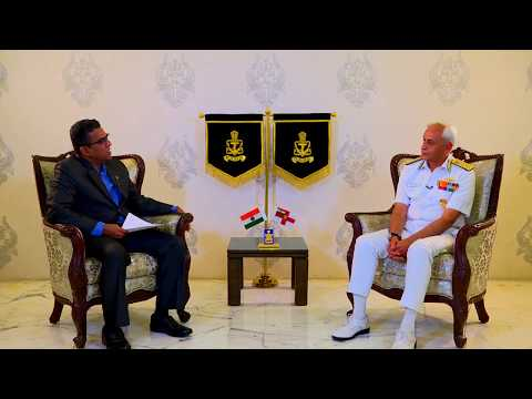 CHIEF OF THE NAVAL STAFF ADMIRAL SUNIL LANBA IN CONVERSATION WITH   NITIN A GOKHALE... EXCLUSIVE