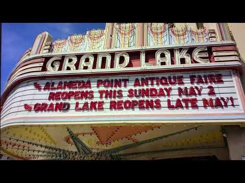 Grand Lake Theater Marquee Oakland: Alameda Point Antique Fair Opens Sunday May 2, Theater Late May