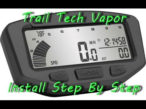 Trail Tech Vapor Computer on dirt bike Step by Step installation