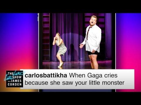 Late Late Captions: Lady Gaga Tears
