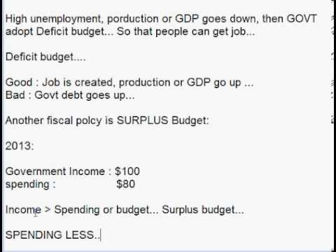 understanding the concept of fiscal policy Just like monetary policy, fiscal policy can be used to influence both expansion and contraction of gdp as a measure of economic growth when the government is exercising its powers by lowering taxes and increasing their expenditures, they are practicing expansionary fiscal policy.