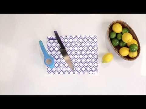 Tupperware® Zest 'N' Press Gadget / Lima-Limão + Raspador